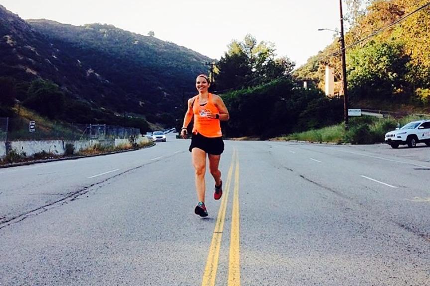 Michelle Schmidt running