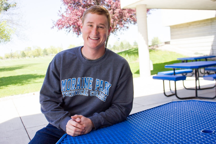 Male Moraine Park student hired before graduation