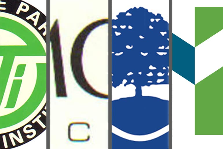 Moraine Park logos throughout the years