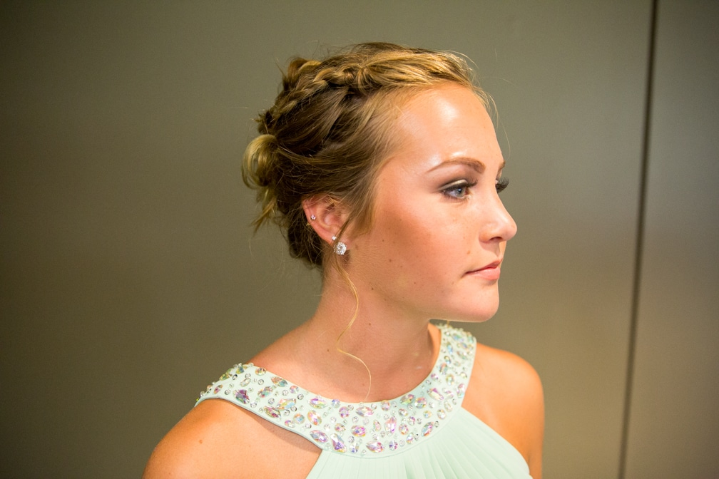 Side view of a female hairstyle for the Moraine Park Technical College Cosmetology Fashion Show
