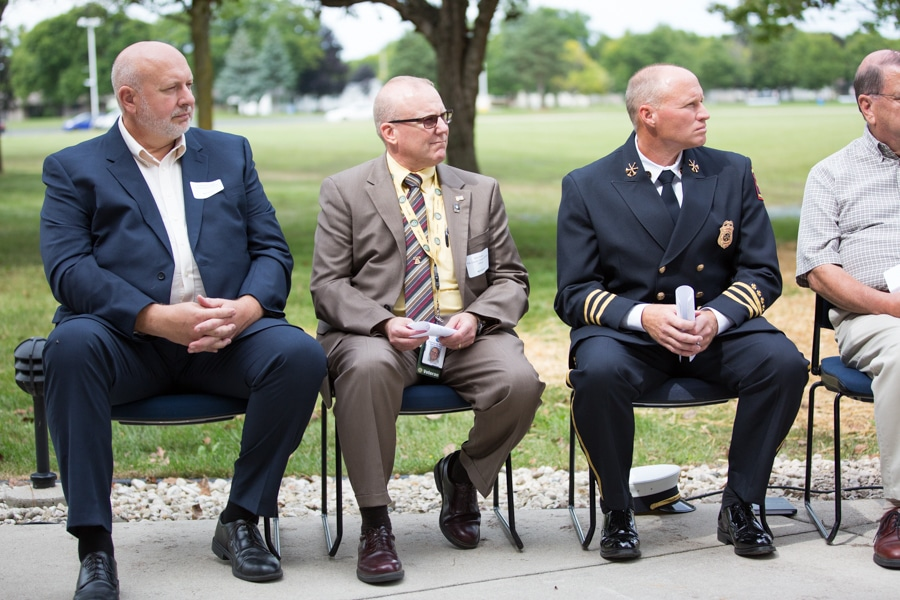 Participants in 9-11 Memorial Rededication at Moraine Park