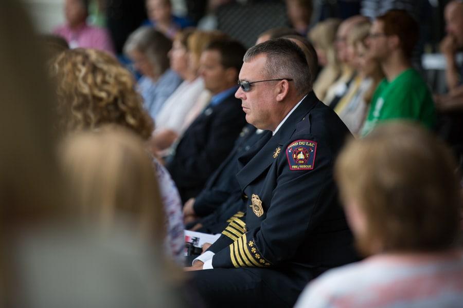 Officer at 9-11 Memorial Rededication