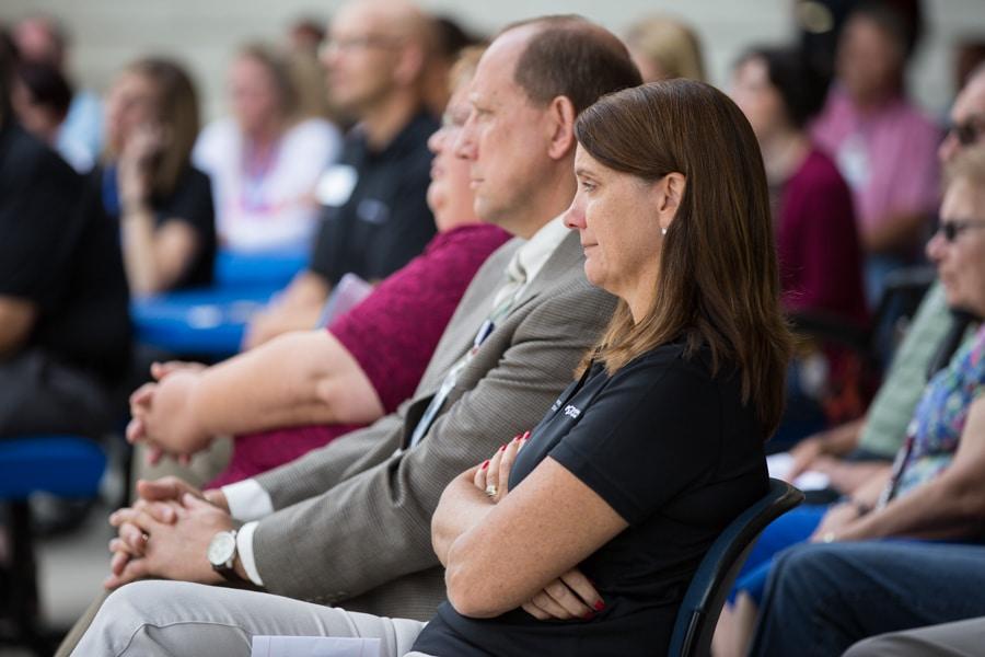 Moraine Kristen Finnel and Jim Eden at 9-11 Memorial Rededication