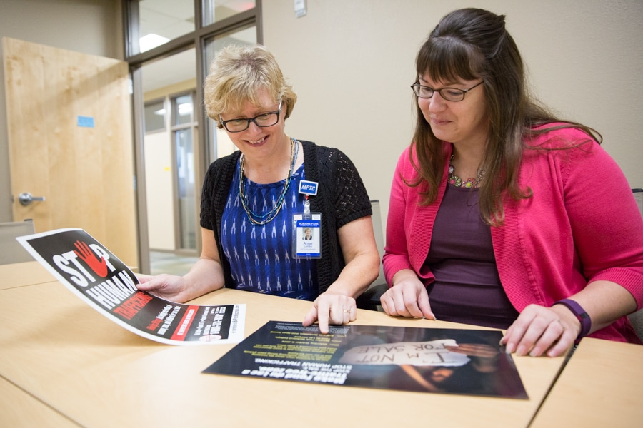 Anne Lemke and Katie Gindt review Traffic Free Zone posters