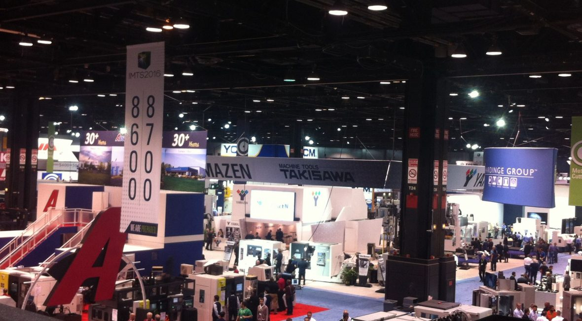 Assorted booths at International Manufacturing Conference