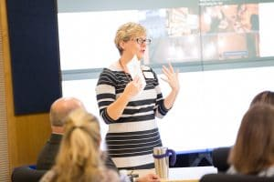Anne Lemke speaking at TACT 3 conference