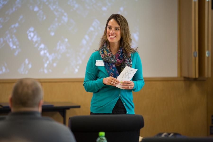 Lisa Pollard speaking at TACT 3 conference