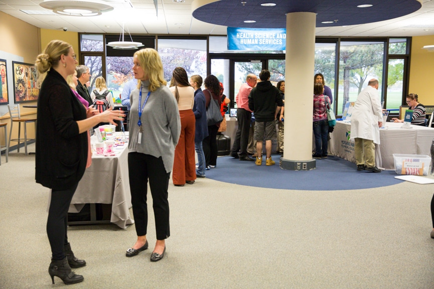 guests gather at career showcase