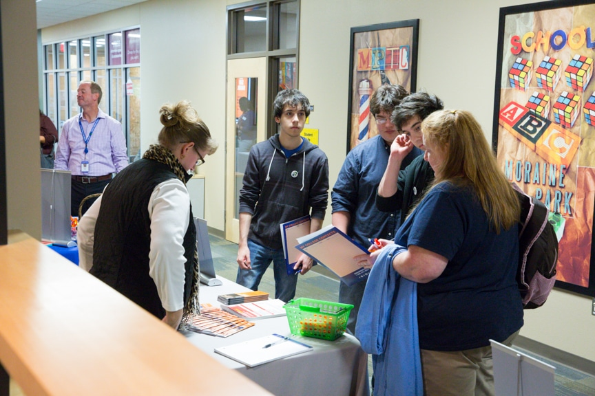 guests touring moraine park at career showcase