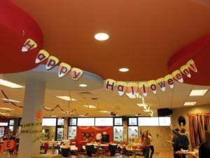 Halloween decorations at Moraine Park West Bend campus