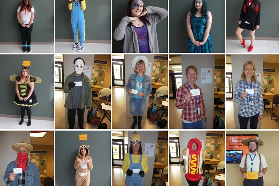 Assorted Moraine Park Halloween costumes