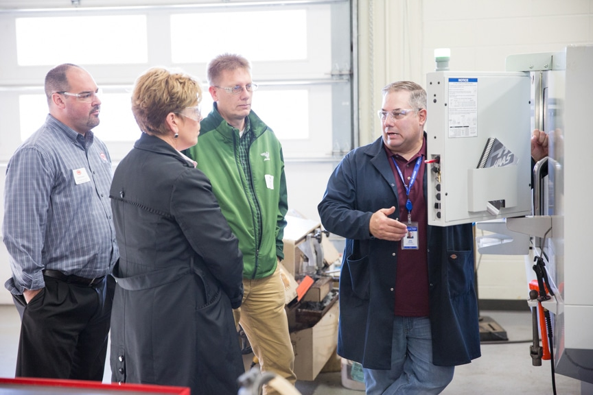Employers learning about CNC at November 2016 Test Drive event