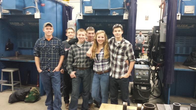 SLINGER HS L to R: Greg S., Tyler K., Steven A., Dylan G., Rachel H., Matt S.