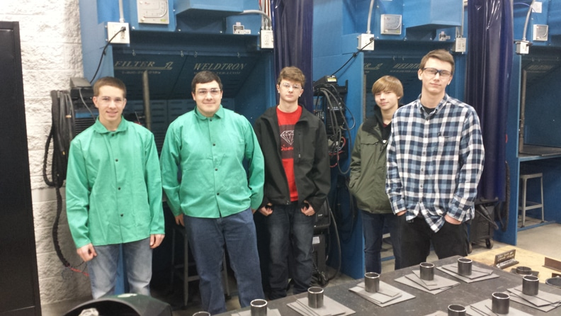 WB HS L to R: Jake T., Robert K., Nic L., Bryce M., Chris Shilts.