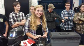 Slinger high school welder Rachel Hau
