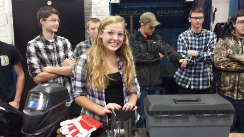 Slinger high school welder Rachel Hau