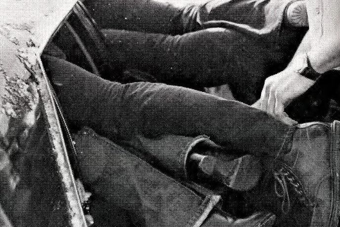 legs hanging out of car doors at moraine park in 1979