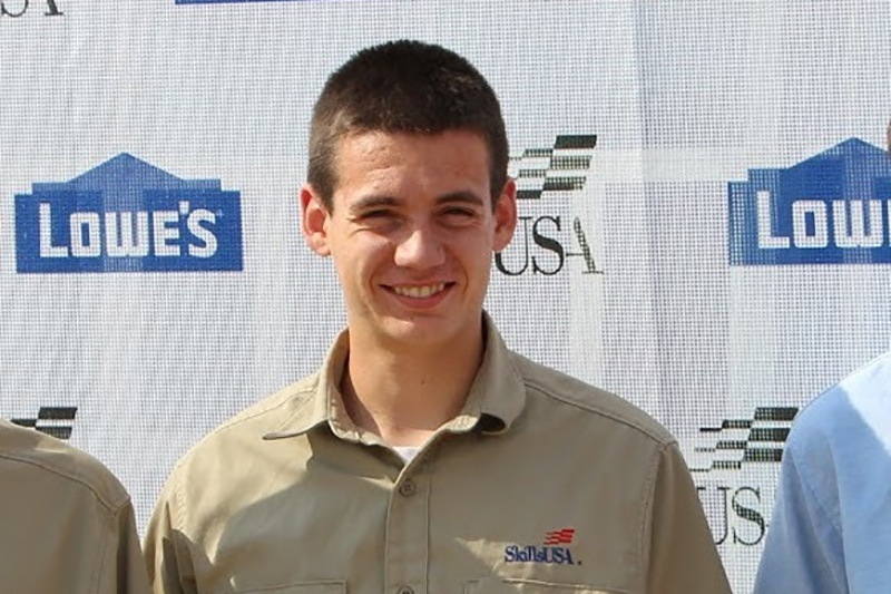 Moraine Park electrical student Jacob Stamm at Skills USA