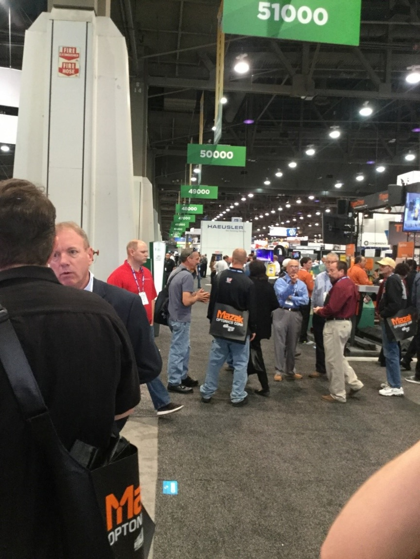 Las Vegas expo with attendees
