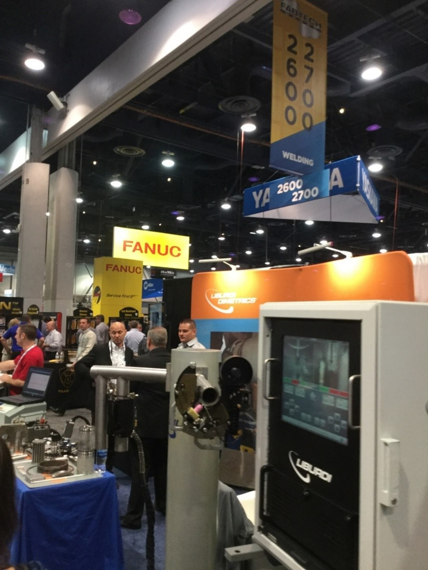 Fanuc booth at Las Vegas expo