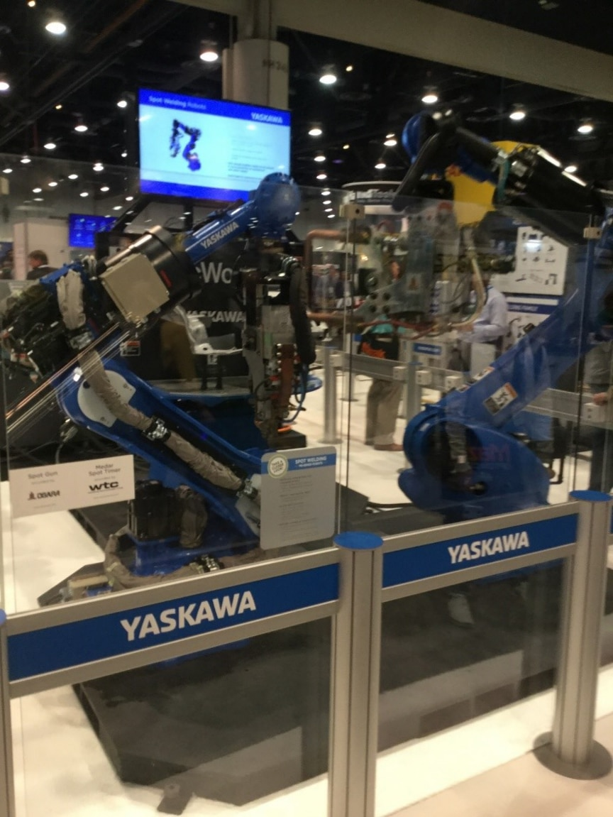 Yaskawa booth at Las Vegas expo