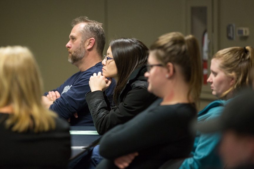 Student listens to importance of soft skills in healthcare