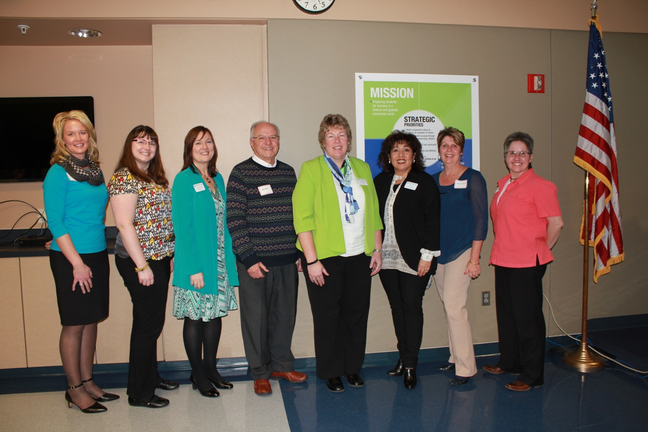 Group photo of Moraine Park staff honored at Career & Technical Ed Asso.