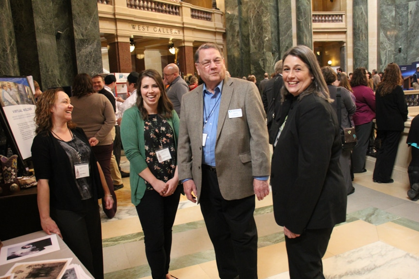 Moraine Park Graphic Design instructor Shawn McAfee at statewide event in Madison
