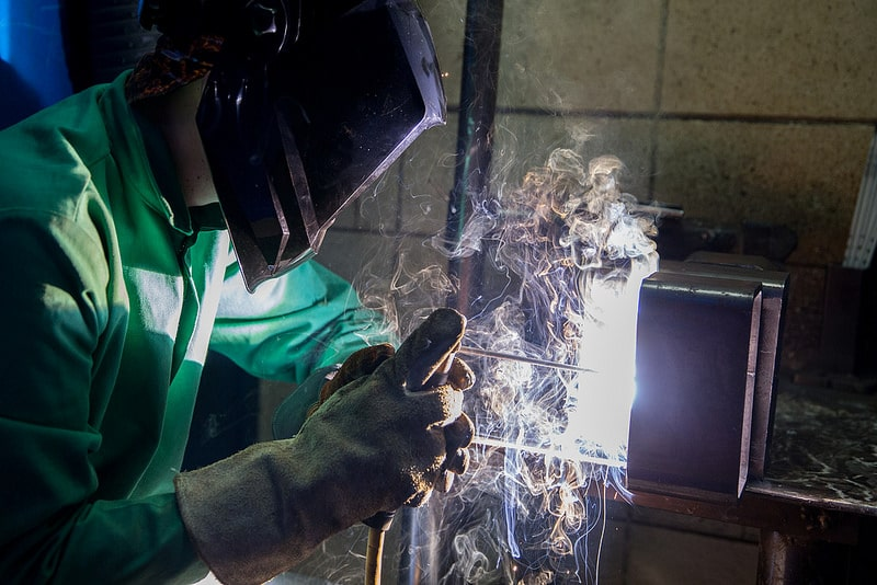 welder works in moraine park lab
