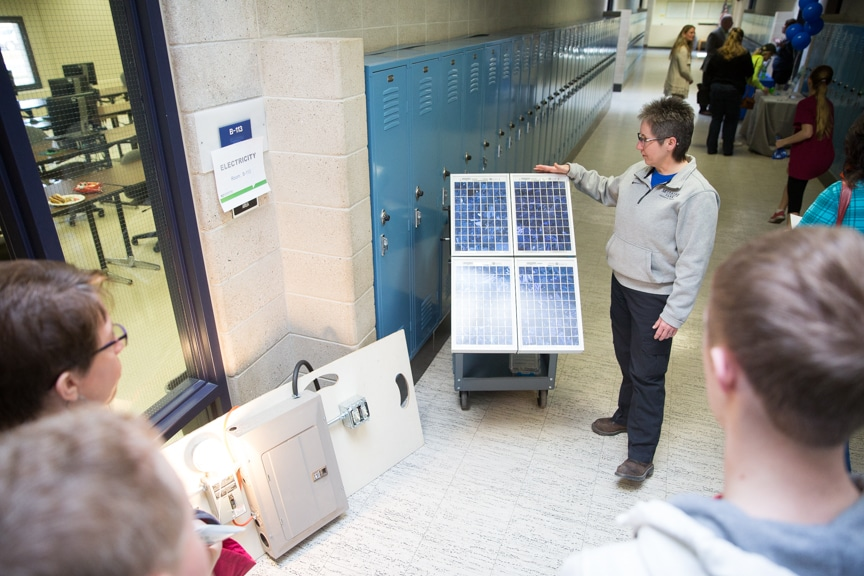 Electrical Instructor demonstrating at Moraine Park Open House