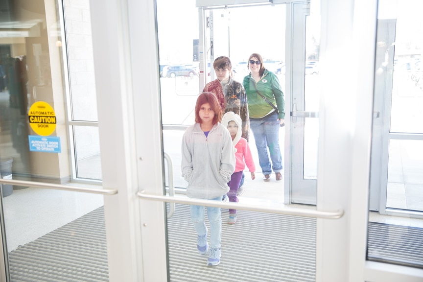 People entering Open House at Moraine Park