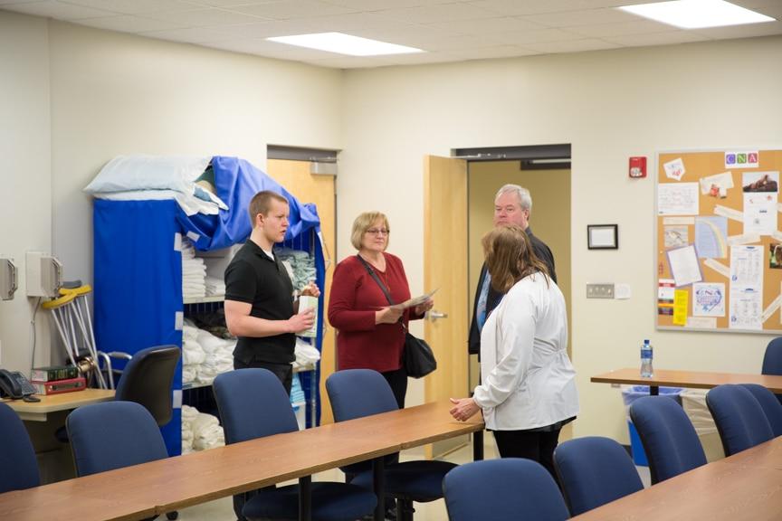 Public touring Nursing lab at Moraine Park Open House