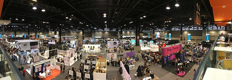 panoramic view of sydney hair show