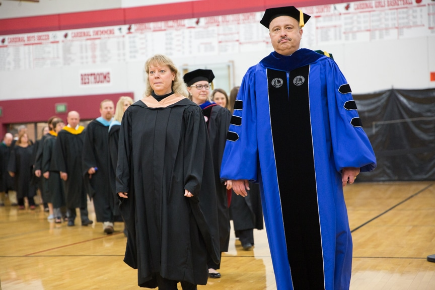 Distinguished guests march in at Moraine Park commencement ceremony
