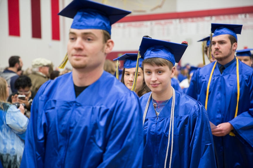 Graduates march in at start of Moraine Park commencement ceremony