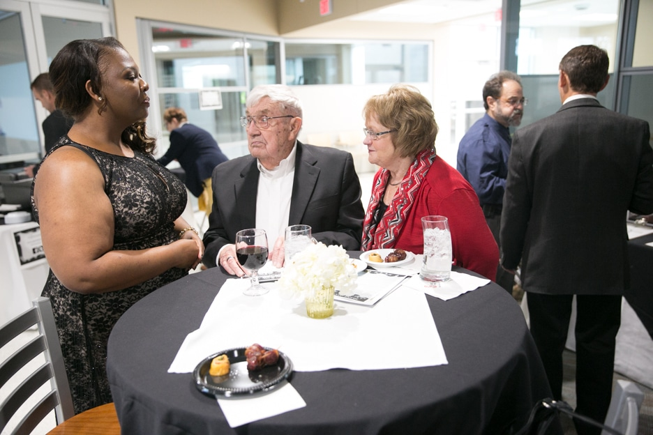 Moraine Park Foundation Gourmet Dinner attendees at table