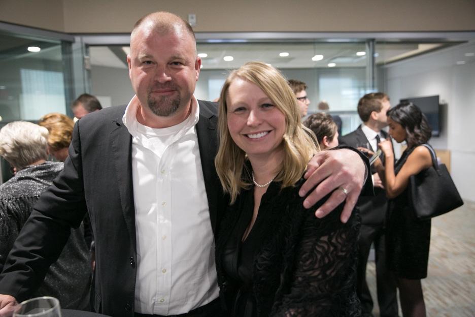 Moraine Park VP of Finance Carrie Kasubaski and her husband.