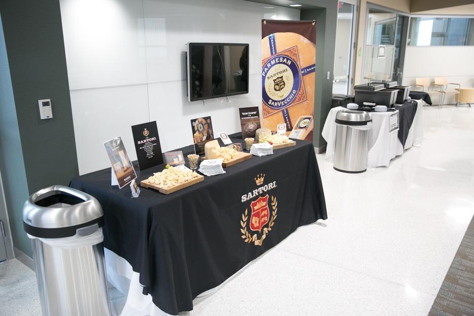 Sartori Cheese display at Gourmet Dinner.