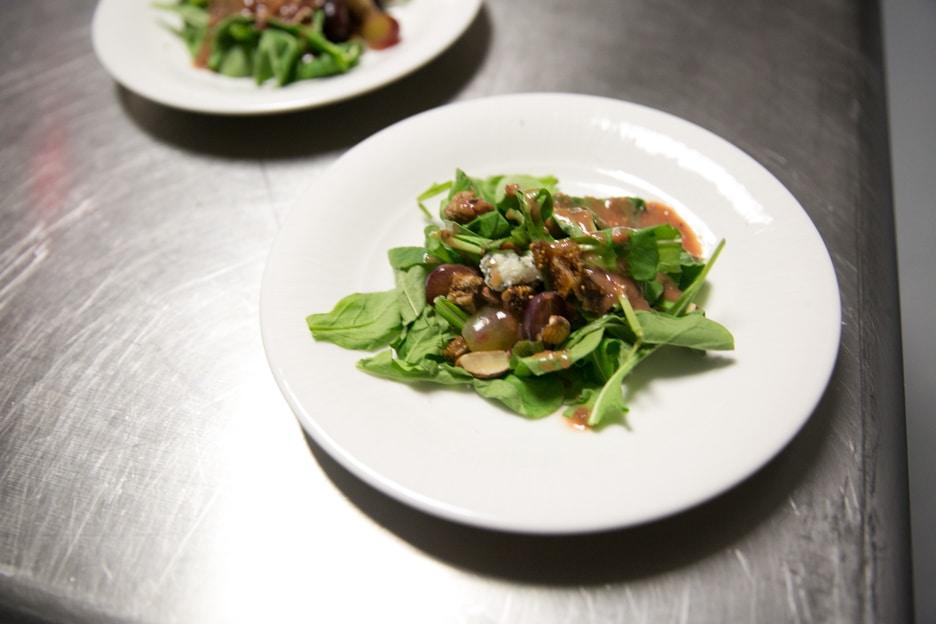 Plate of food at Gourmet Dinner
