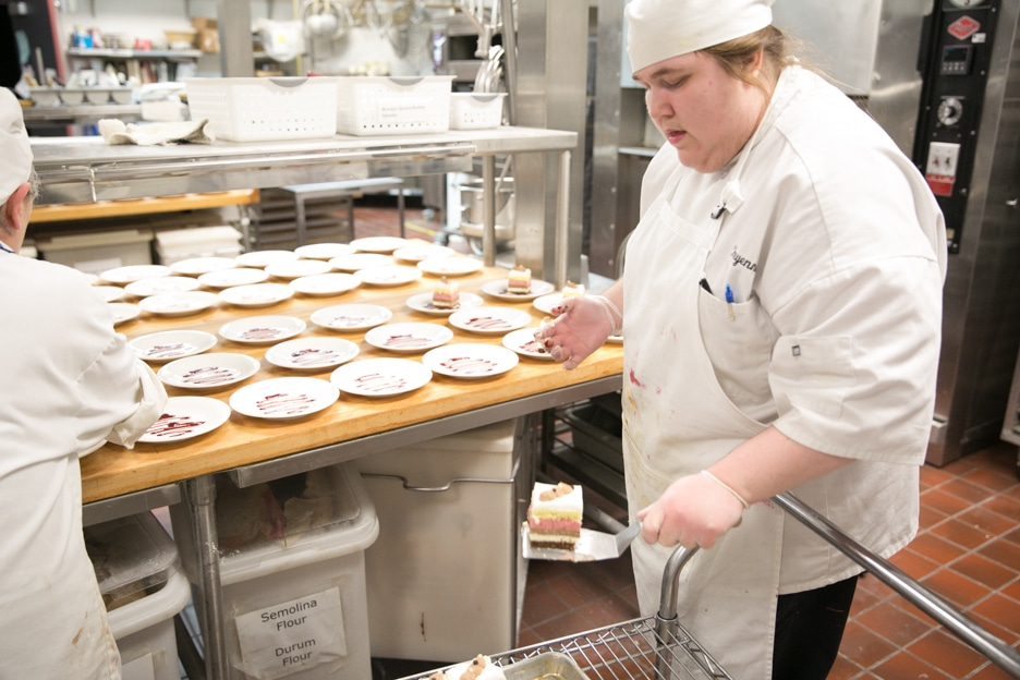 Moraine Park Foundation Gourmet Dinner Culinary students preparing meal