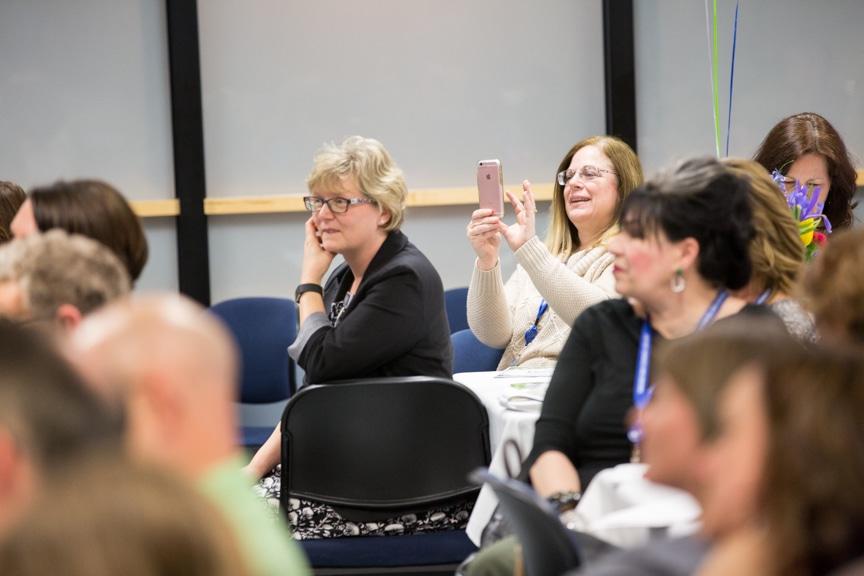 Employees at Moraine Park Retirement Service Recognition event