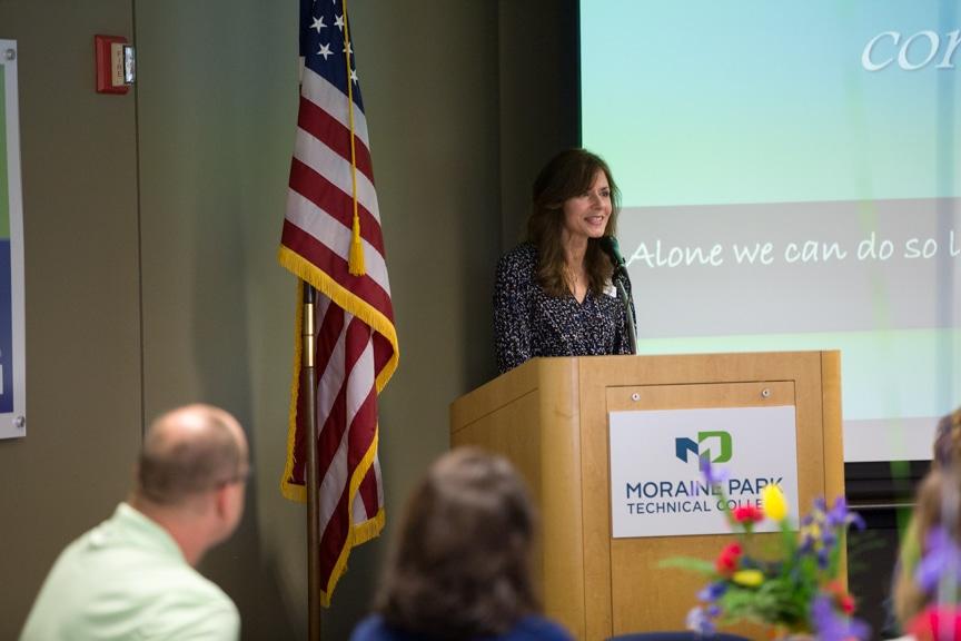 Moraine Park Retirement Service Recognition event speaker Kathy Broske, VP of Human Resources