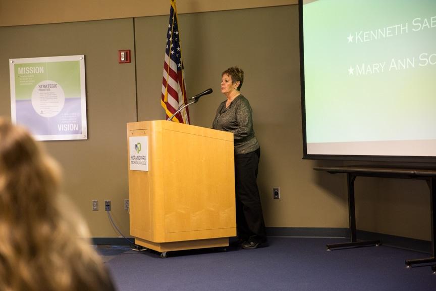 Speaker at Retirement-Service Recognition event