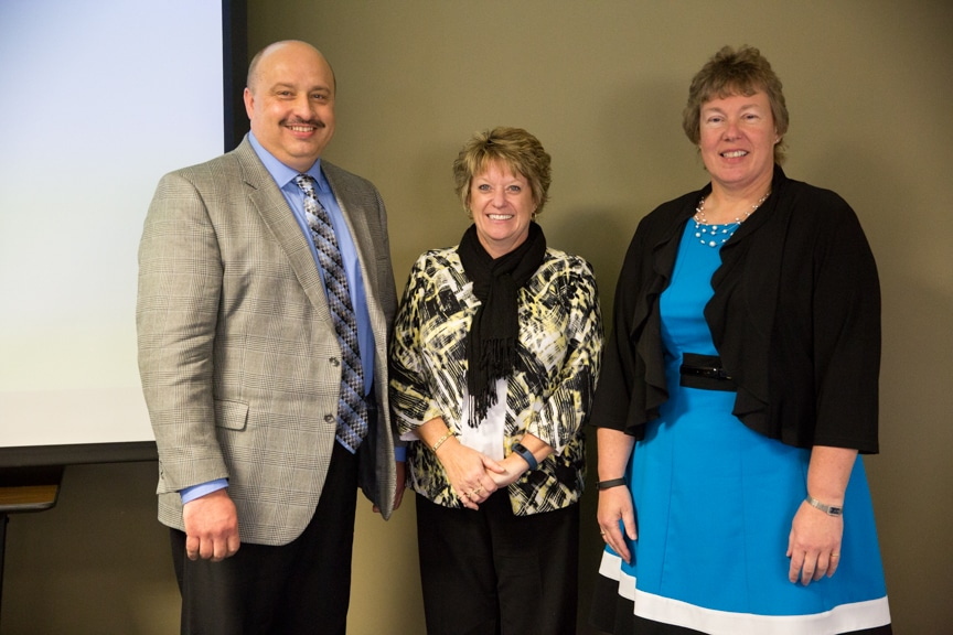 Dr. Fred Rice, Joan Seichter, and Bonnie Baerwald
