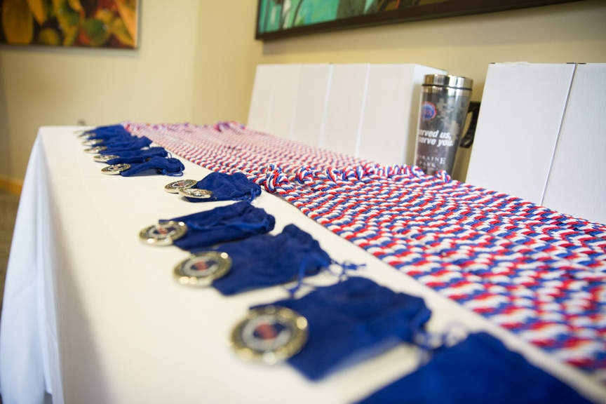 medals at Hail & Farewell ceremony