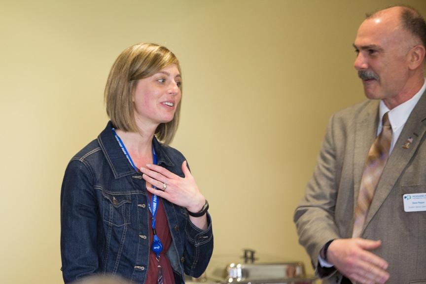 Moraine Park Financial Specialist Kim DeMaa and Veteran Specialist Steve Pepper