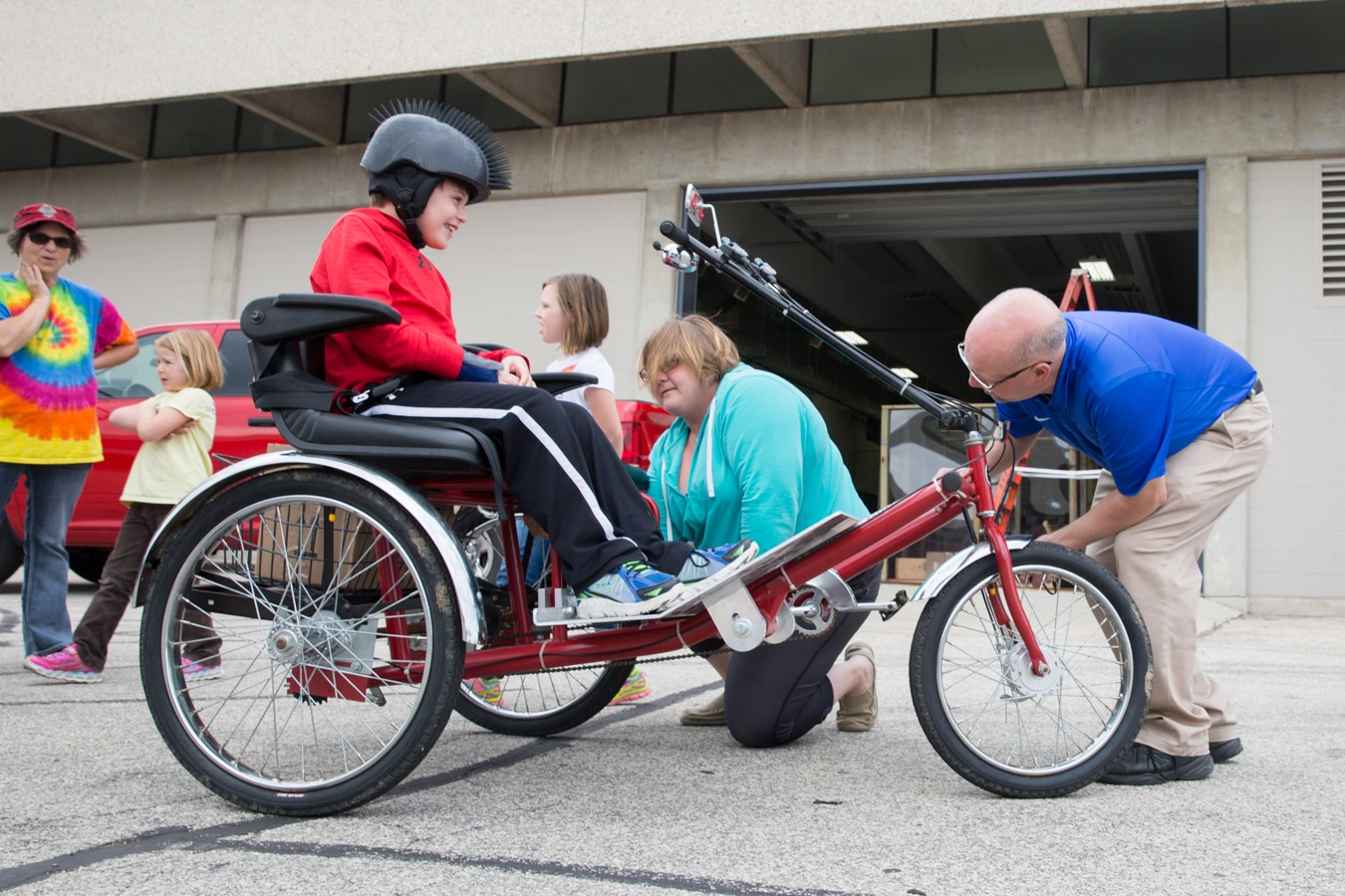 Trike designed by Moraine Park students for disabled Mason.