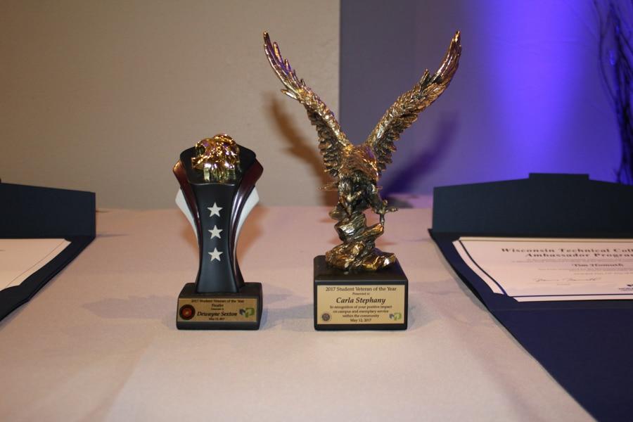 Moraine Park student awards trophies