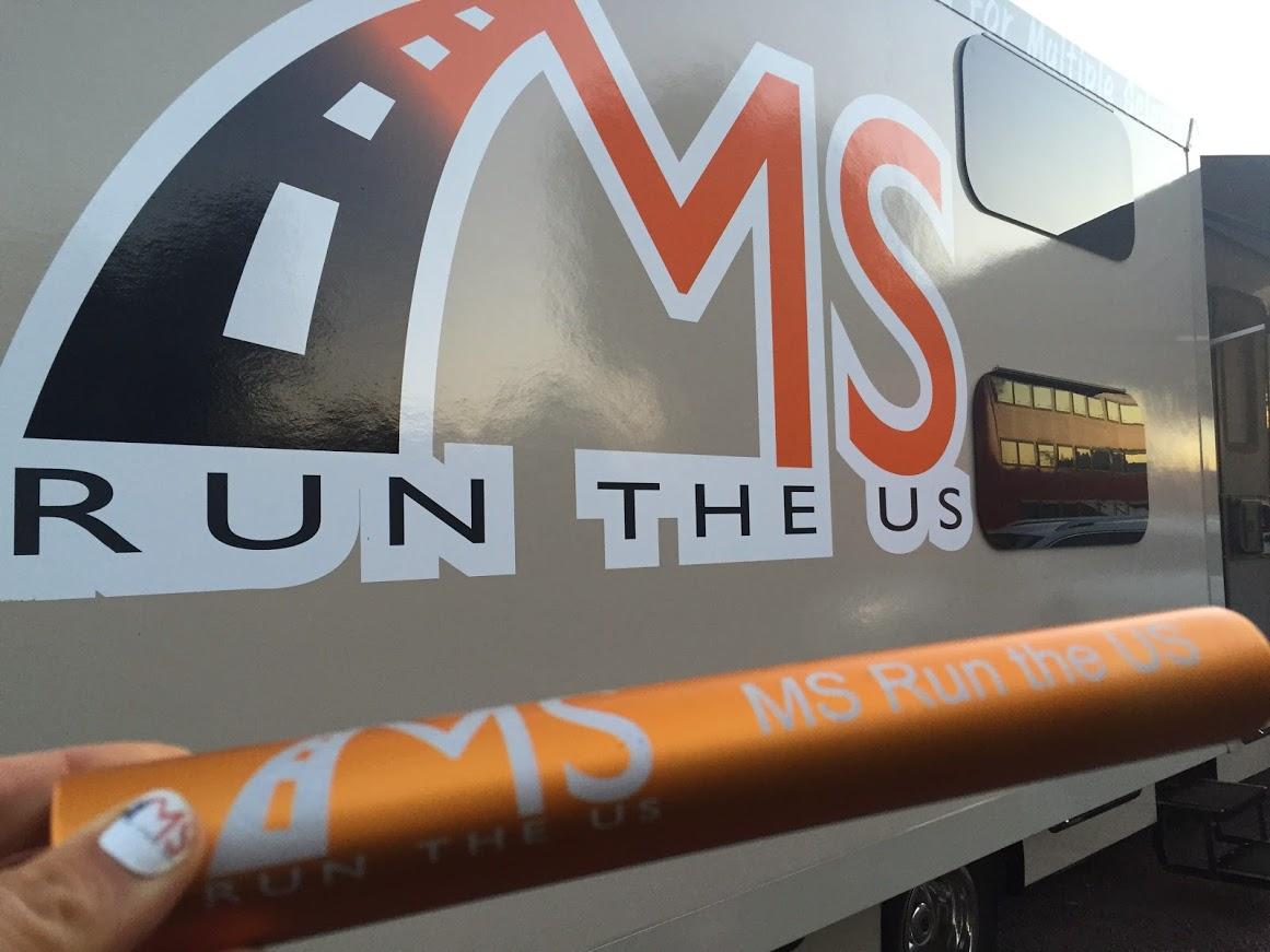 The MS Run baton