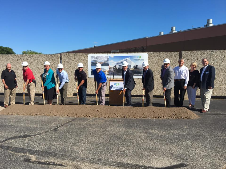Moraine Park and gas industry representatives put shovels in dirt to break ground on new MPTC Gas Utility building